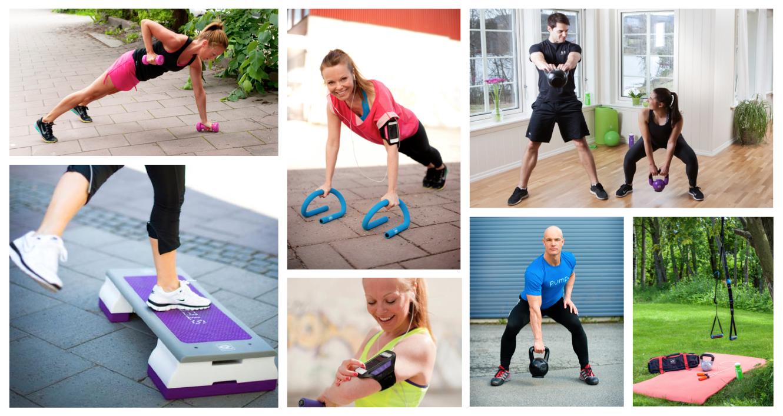 Få inspiration til forskellige øvelser med træningsredskaber