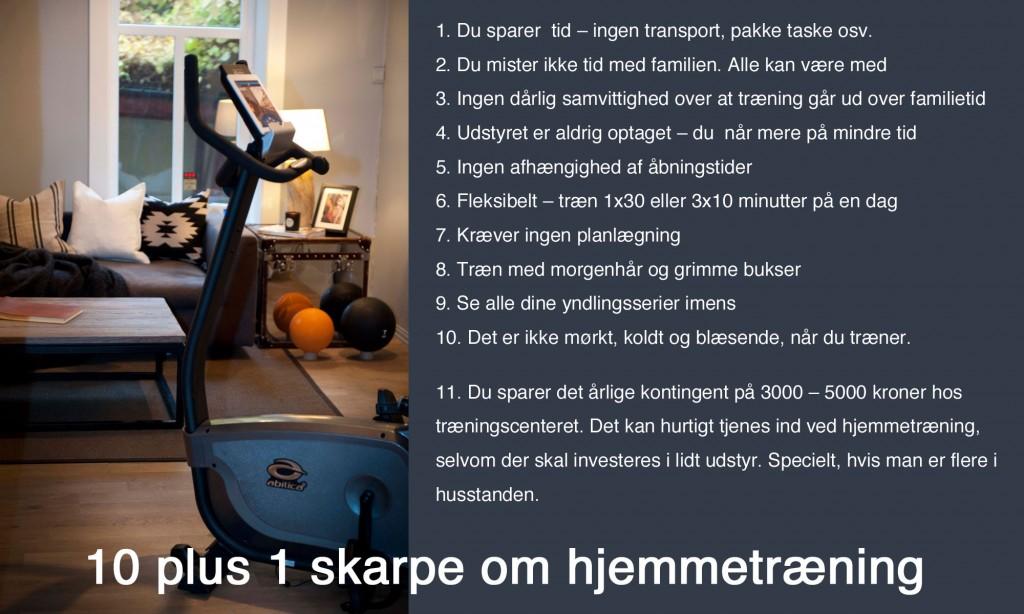 Hjemmetræning - fordelene ved træning derhjemme